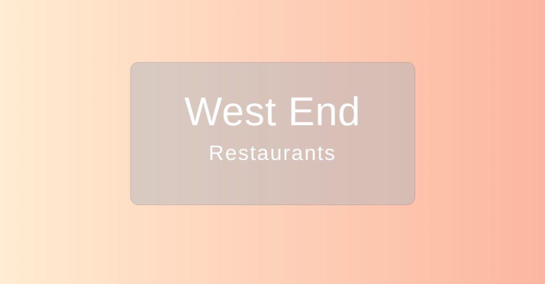 West End Restaurants Nashville TN